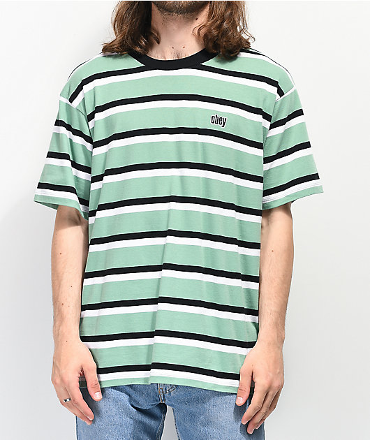 Obey Jeff Stripe Sage T-Shirt