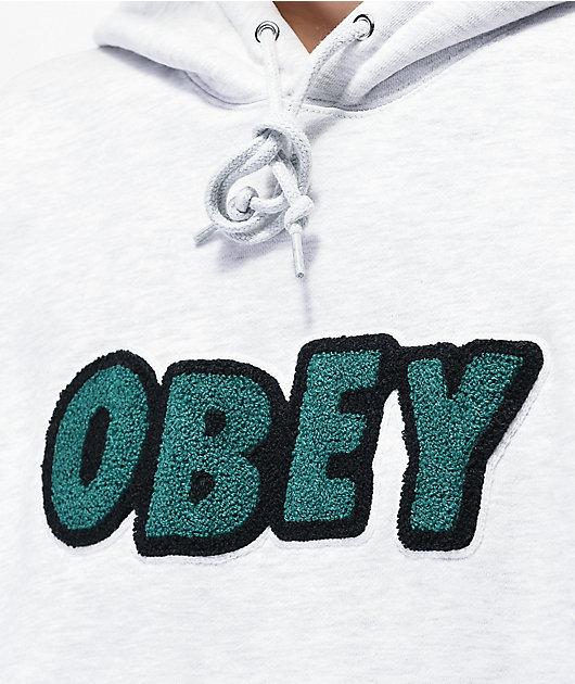 Obey Jumble Ash Grey Hoodie