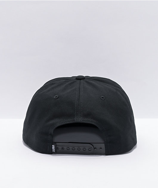 Obey Lessons Black Snapback Hat