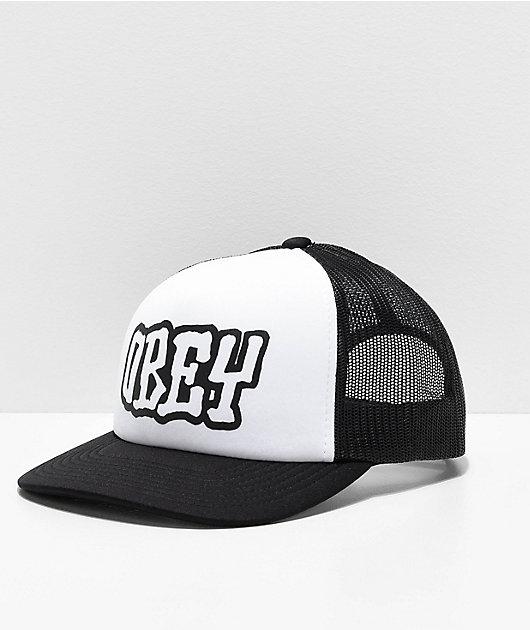 Obey Loot Black & White Trucker Hat