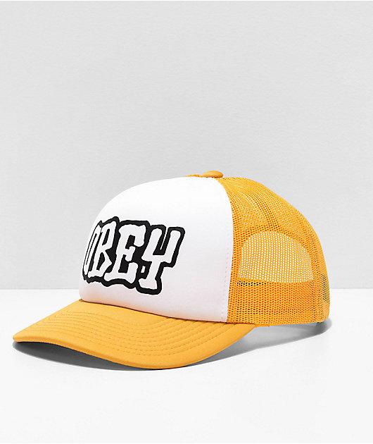 Obey Loot Yellow & White Trucker Hat