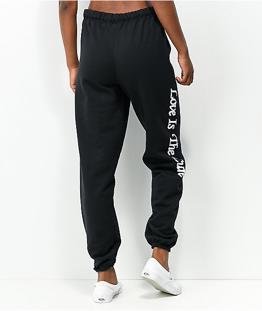 Obey Love Is The Cure Black Sweatpants
