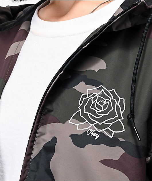 Obey Mira Rosa Camo Windbreaker Jacket
