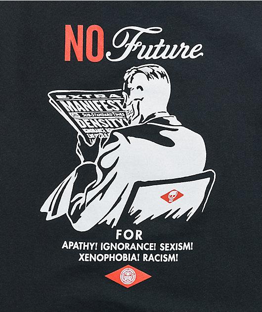 Obey No Future Black T-Shirt