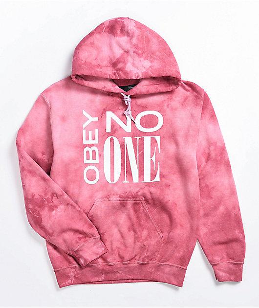 Obey No One Rose Tie Dye Hoodie
