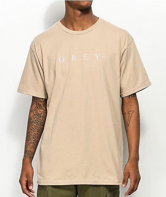 Obey Novel camiseta beige