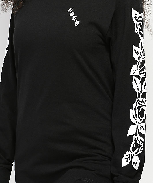 Obey Olde Rose Salvage Long Sleeve Black T-Shirt