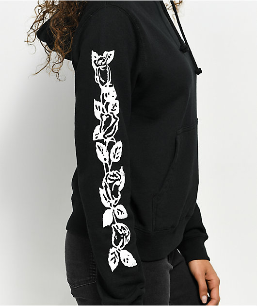 Obey Olde Rose sudadera negra con capucha
