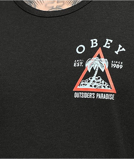 Obey Outsiders Paradise camiseta negra sin mangas