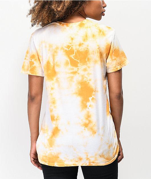 Obey Peace Dove camiseta tie dye dorada