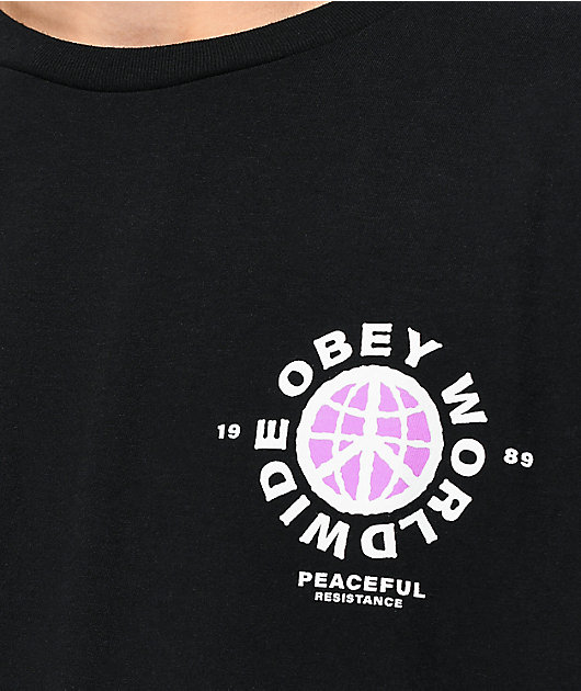 Obey Peaceful Resistance Black T-Shirt
