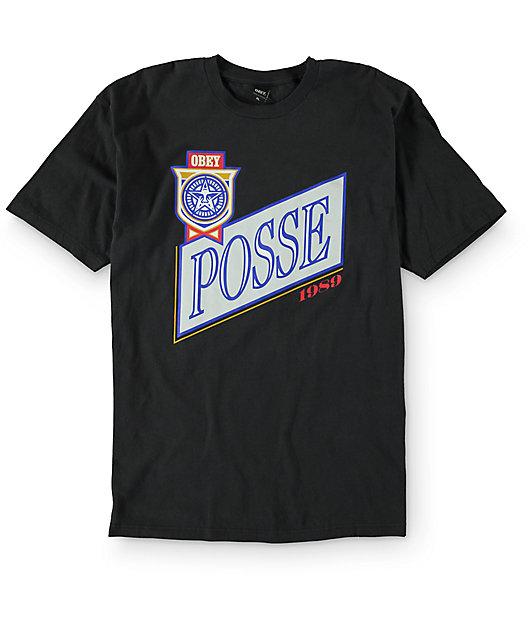 Obey Posse Light Charcoal T-Shirt