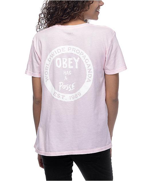 Obey Posse Pink T-Shirt