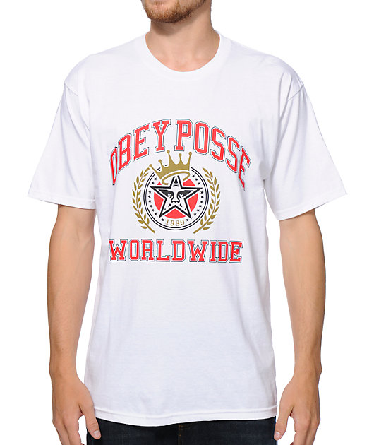 Obey Posse Worldwide White T-Shirt