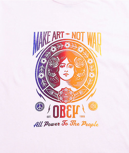 Obey Power To The People Pink T-Shirt