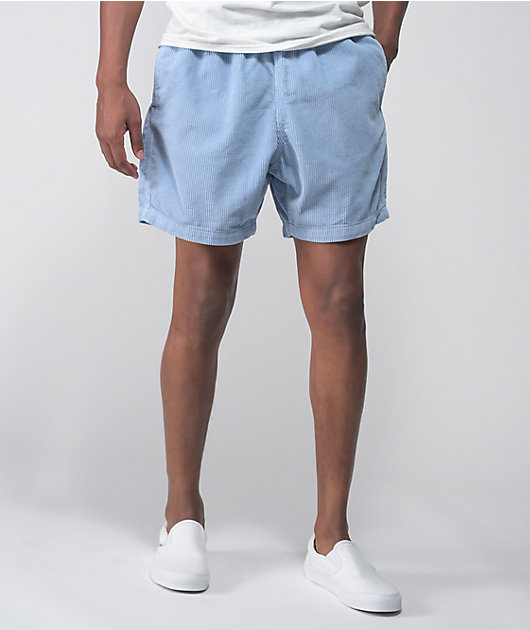 Obey Relaxed Light Blue Corduroy Shorts