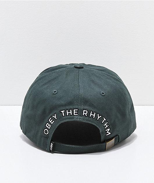 Obey Rhythm Dark Green Strapback