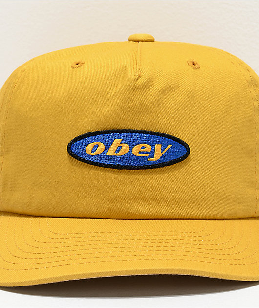 Obey Rotation Golden Palm Snapback Hat