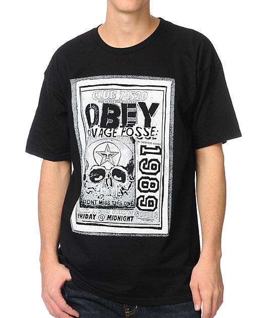 Obey Savage Posse Black T-Shirt