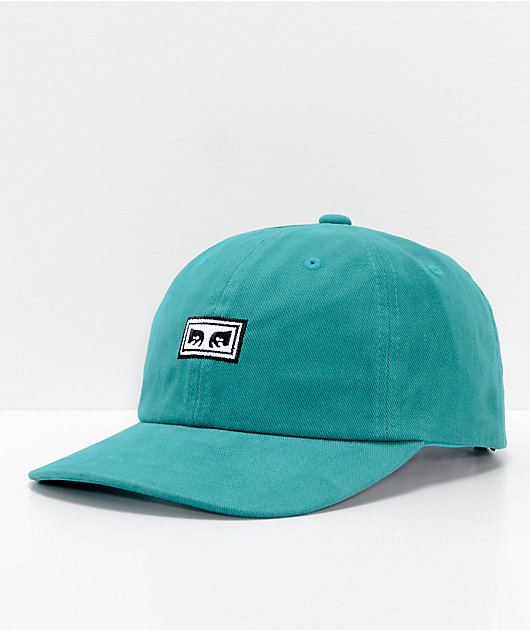 Obey Subversion Teal 6 Panel Snapback Hat