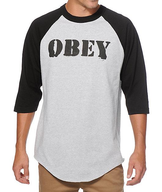 Obey US Posse Baseball T-Shirt