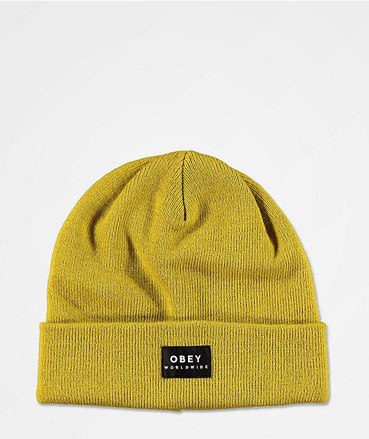 Obey Vernon II Yellow Beanie