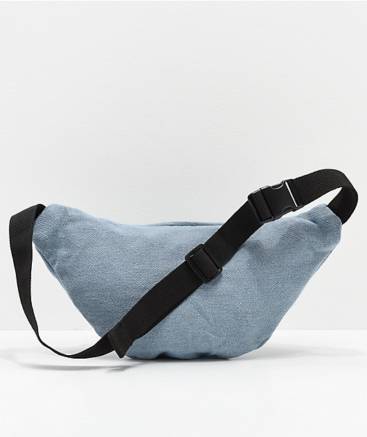 Obey Waisted Blue Denim Fanny Pack