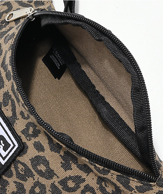 Obey Waisted Leopard Print Khaki Fanny Pack