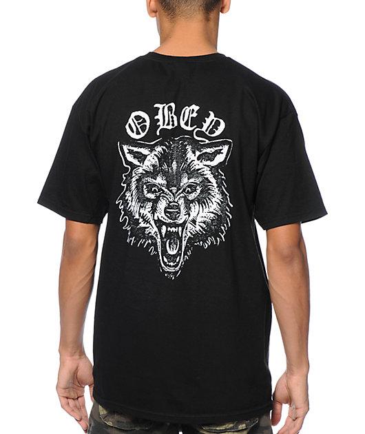 Obey Wolf Posse Black T-Shirt