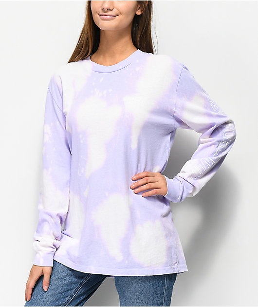 Obey World Wide Box Bleached Lavender Long Sleeve T-Shirt