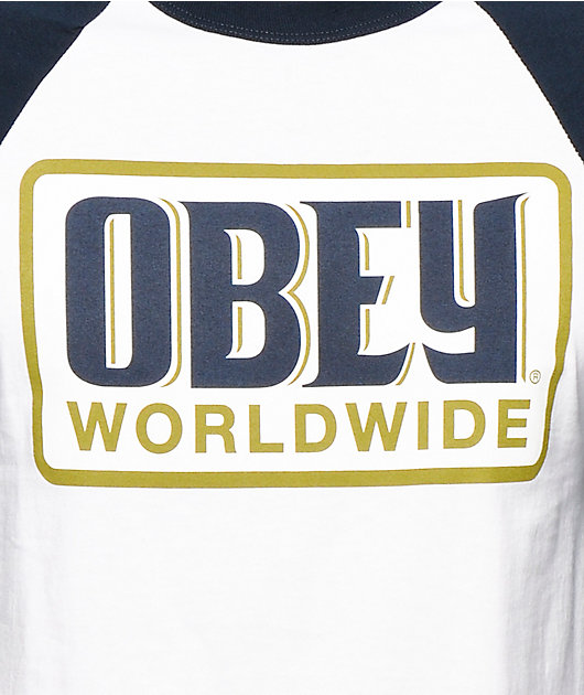 Obey Worldwide Posse Baseball T-Shirt