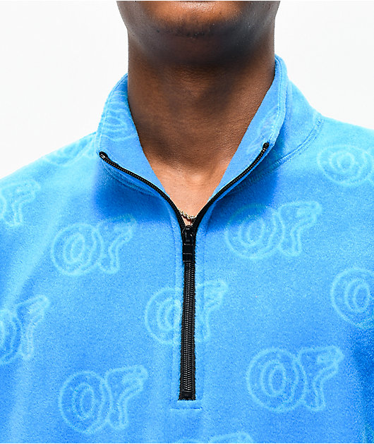 Odd Future Allover OF Print chaqueta de polar azul claro