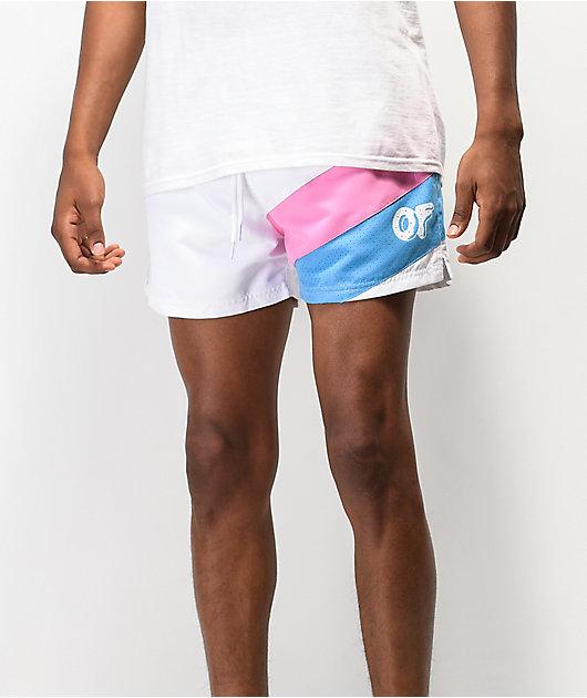 Odd Future Angled White Board Shorts