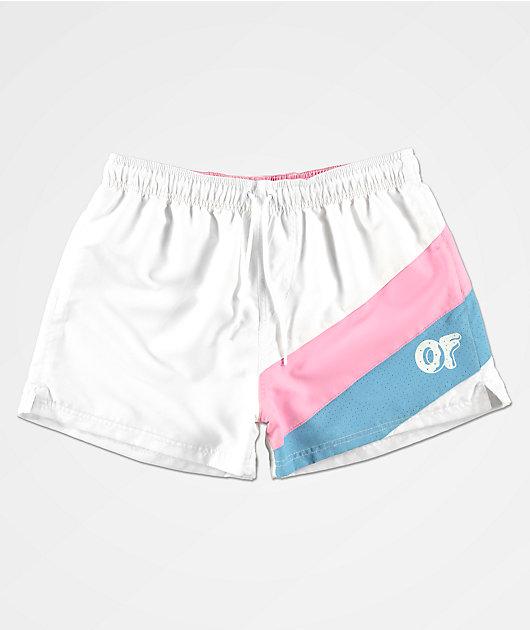 Odd Future Angled shorts de baño blancos