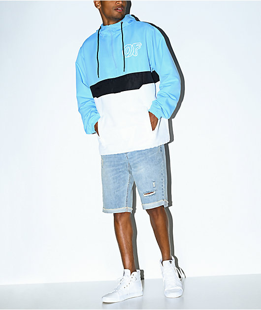 Odd Future Arc Logo Light Blue Anorak Jacket
