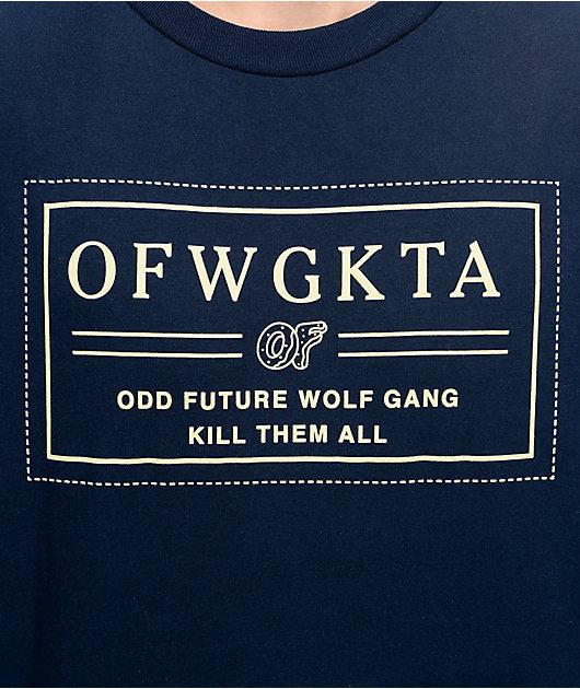 Odd Future Bar Logo Navy Long Sleeve T-Shirt