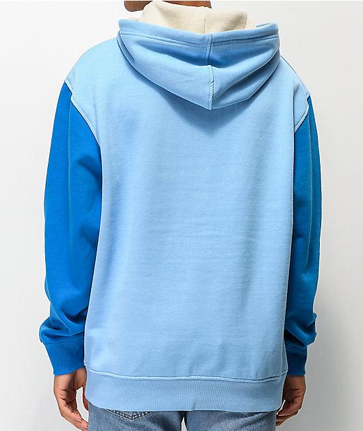 Odd Future Block Text sudadera con capucha azul y blanca