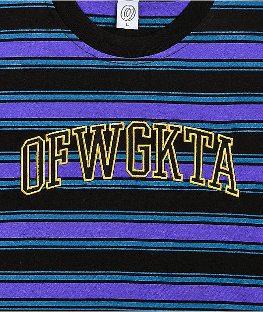 Odd Future Collegiate Logo Stripe Knit T-Shirt