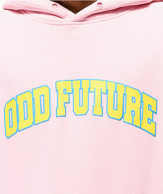 Odd Future Collegiate Pink, Blue & Yellow Colorblock Hoodie