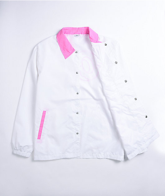 Odd Future Colorblock White & Pink Coaches Jacket