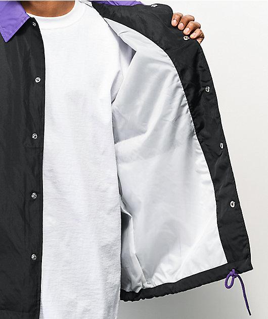 Odd Future Contrast chaqueta entrenador negra y morada