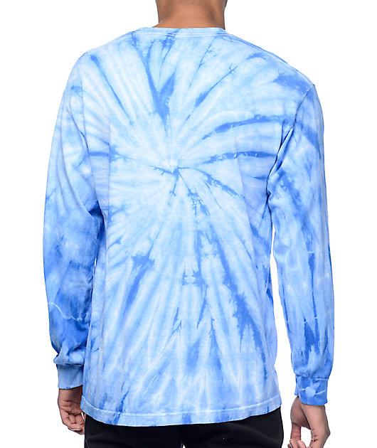 Odd Future Diamond Logo Blue Tie Dye Long Sleeve T-Shirt