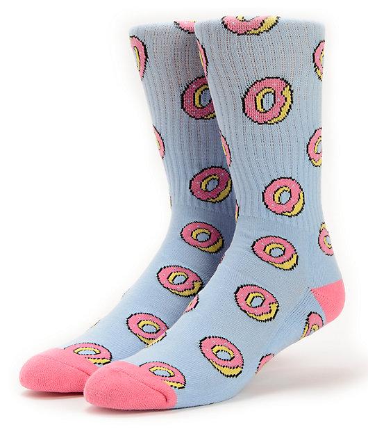 Odd Future Donut Allover Blue Crew Socks