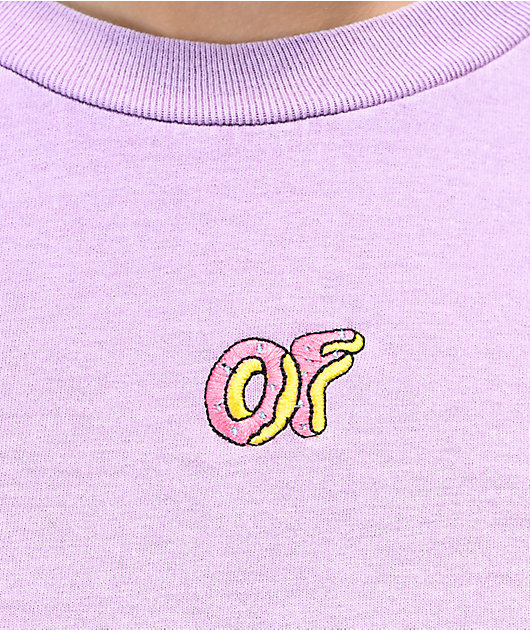 Odd Future Embroidered Dusty Lilac T-Shirt