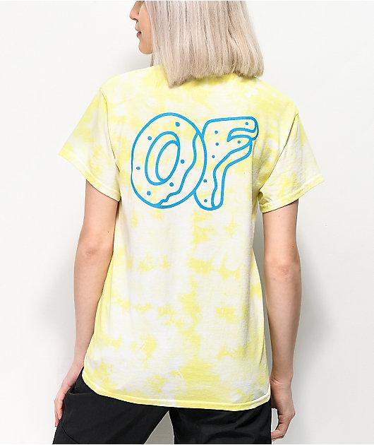 Odd Future Embroidery Yellow Wash T-Shirt