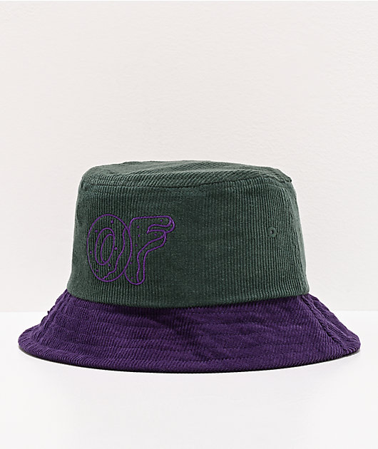 Odd Future Green & Purple Corduroy Bucket Hat