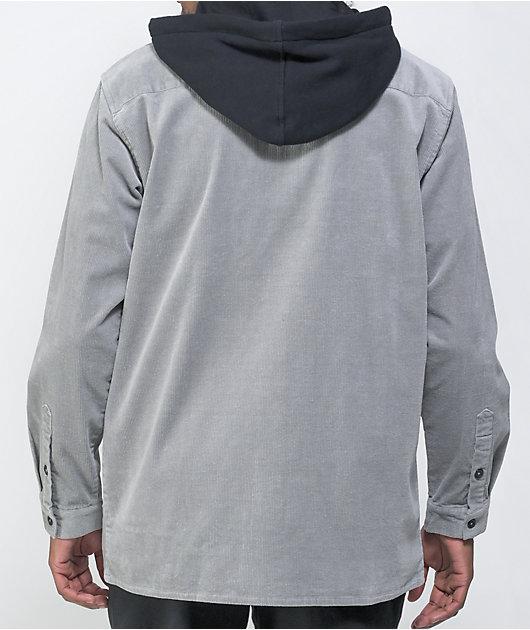Odd Future Grey Corduroy Hooded Shirt