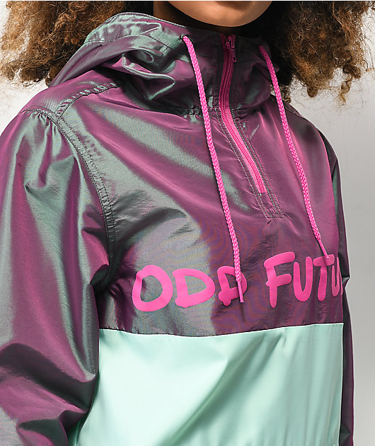 Odd Future Iridescent Purple & Mint Anorak Windbreaker Jacket