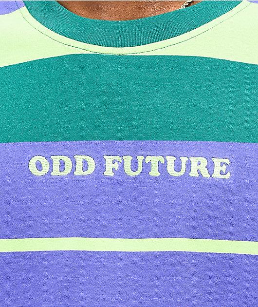 Odd Future Mint & Purple Striped Knit T-Shirt