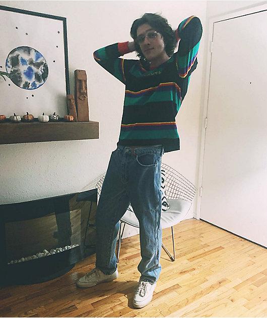 Odd Future Multi Stripe Black Long Sleeve Knit Shirt